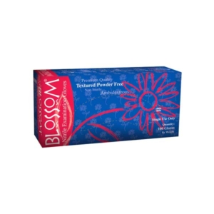 Blossom Soft Nitrile Powder-Free Textured DARK BLUE Exam Gloves