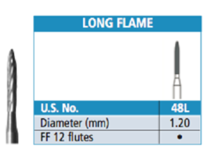 Carbide Burs - Trimming and Finishing - Long Flame - Johnson-Promident